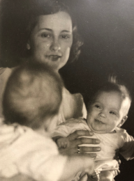 Elizabeth Beale Clancy with baby
