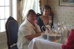 Lisa-Marie Lightfoot and Kay Sanders at Pink Tea at the Governor's Mansion