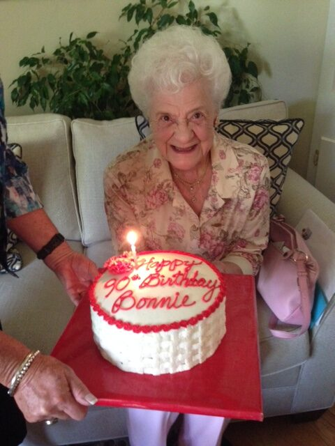 Bonnie on her 90th birthday.