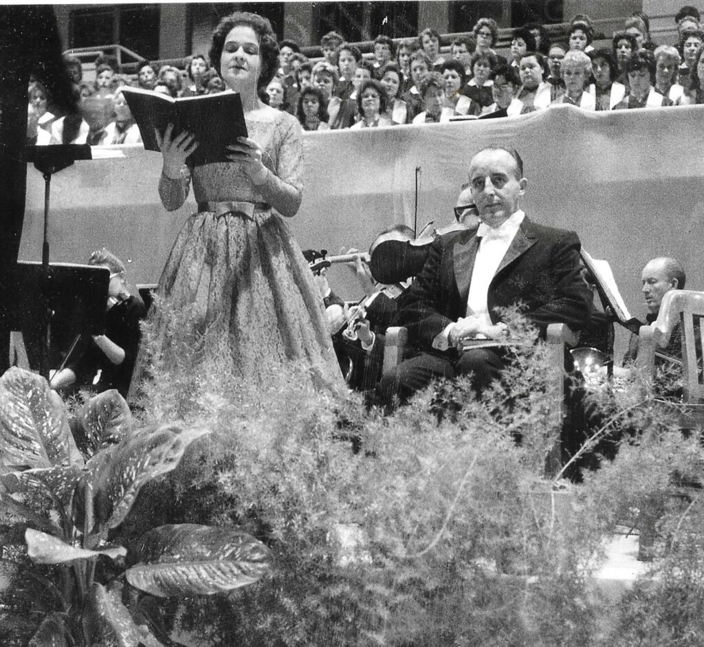 Bonnie singing Messiah with University Singers in 1960-6824dc25