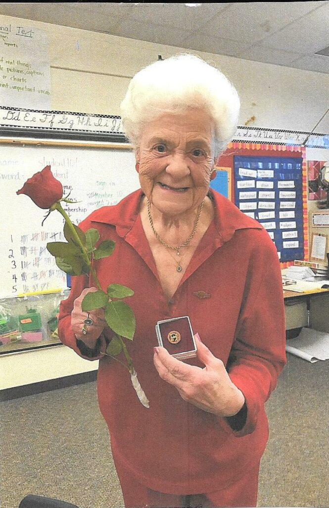 Bonnie with her DKG 50 year pin.